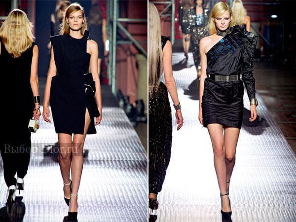 Черные коктейльные платья на одно плечо от Lanvin