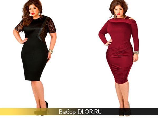 Черное и бардовое платье