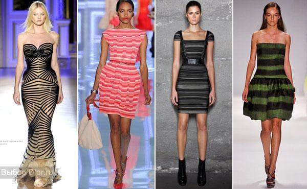 Платья с яркими полосками