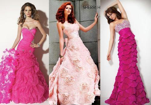 Фото розовых платьев