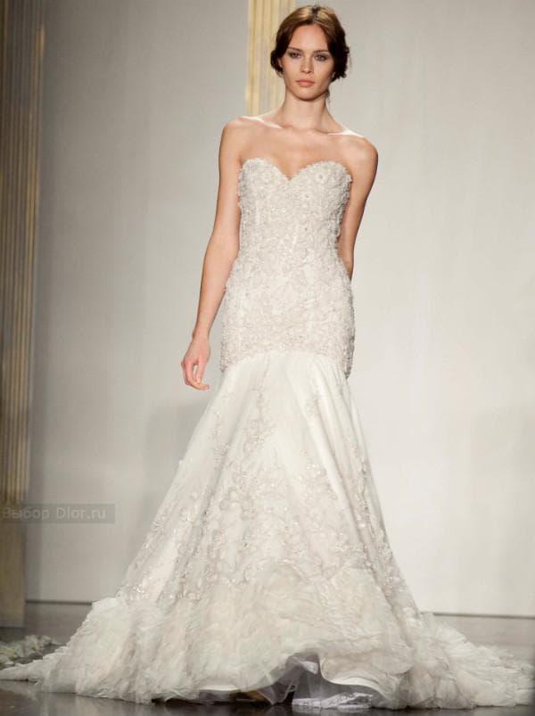 Фото свадебного платья без бретелек