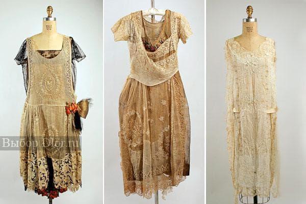 Искусно расшитые старые платья