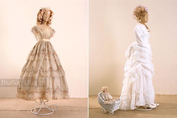 Модели старинных платьев с завышенной талией