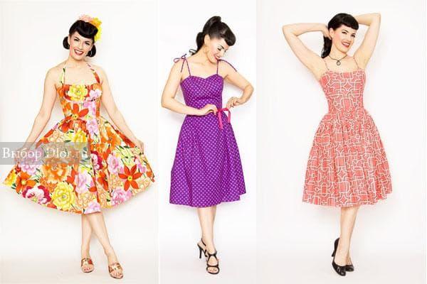 Необычайно яркие платья в моде и сегодня