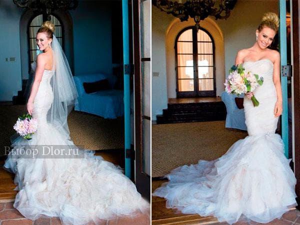 Свадебное платье Хилари Дафф