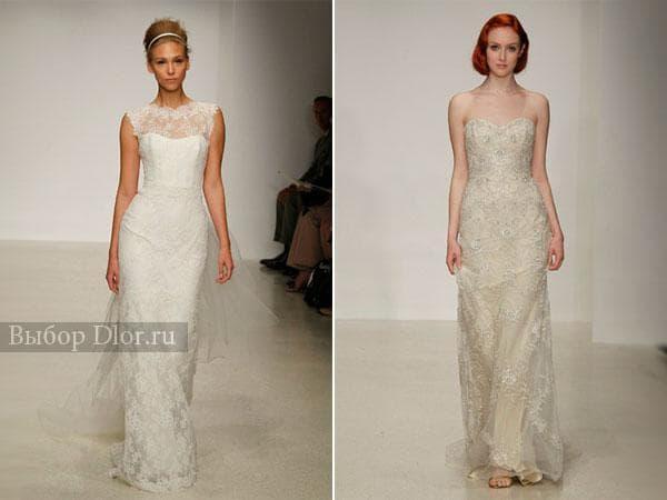 Фото свадебного платья-футляр