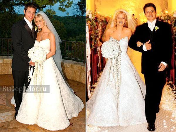 Свадебный наряд Джессики Симпсон