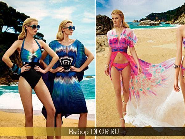 Шифоновые платья для пляжа от Gottex