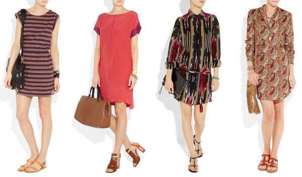 Шифоновые и атласные платья-туника