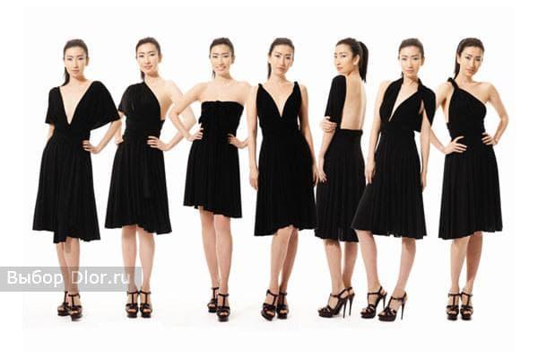 Черное платье-трансформер фото