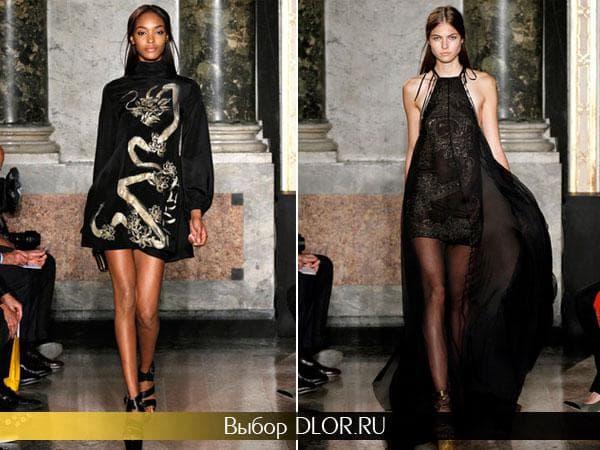 Черные элегантные платья от Emilio Pucci