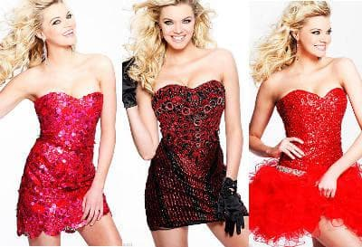 Фото красных платьев