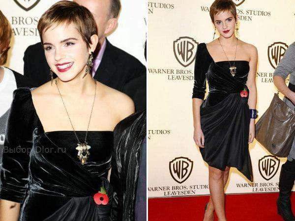 Бархатное платье Emma Watson