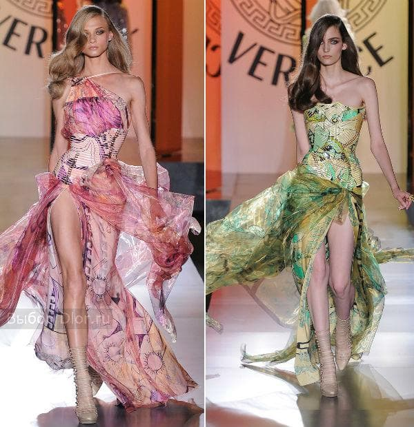 Летние шифоновые платья с цветочным принтом