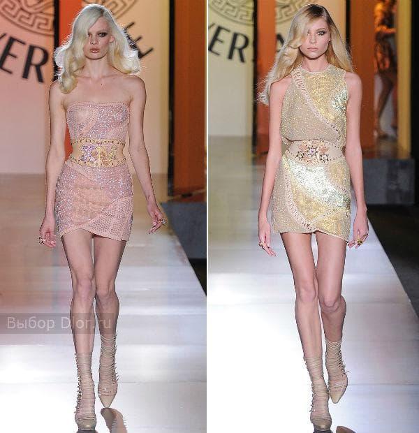 Фото мини-платьев от Versace 2012