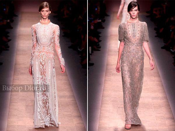 Кружевные наряды на выпускной от Valentino