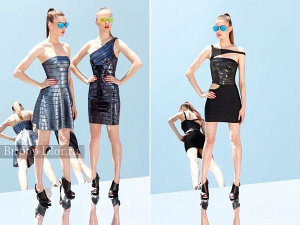 Бандажные платья с блестками