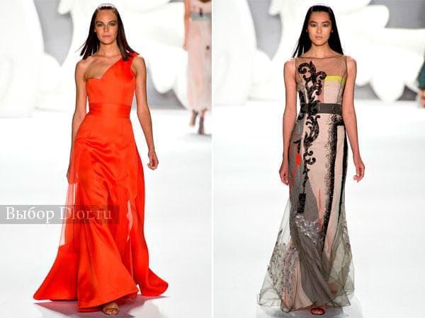 Платья в пол от Carolina Herrera