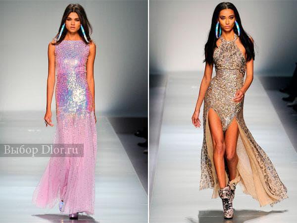 Платья с пайетками от Blumarine
