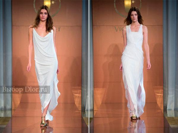 Белые платья в греческом стиле от Vionnet