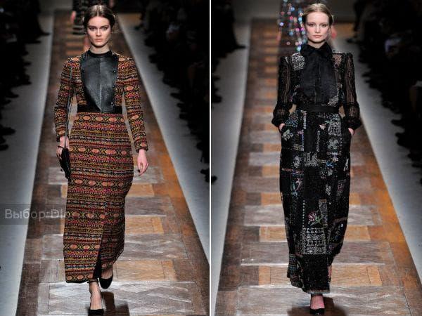 Длинные теплые платья от Valentino