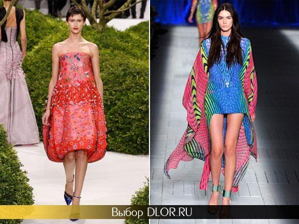 Летние легкие платья с ярким принтом