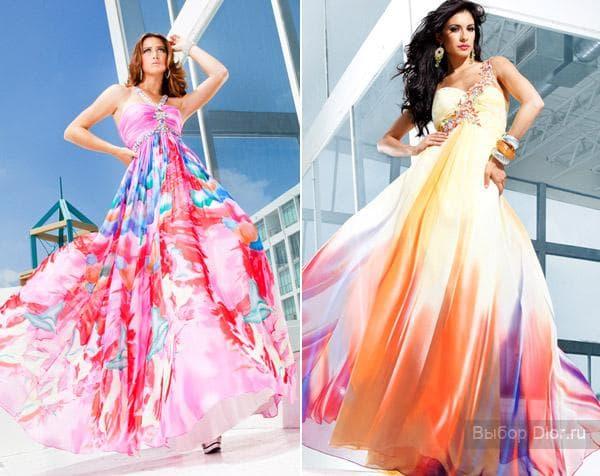 Шифоновые платья с высокой талией