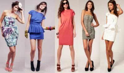 Модные короткие платья - фото