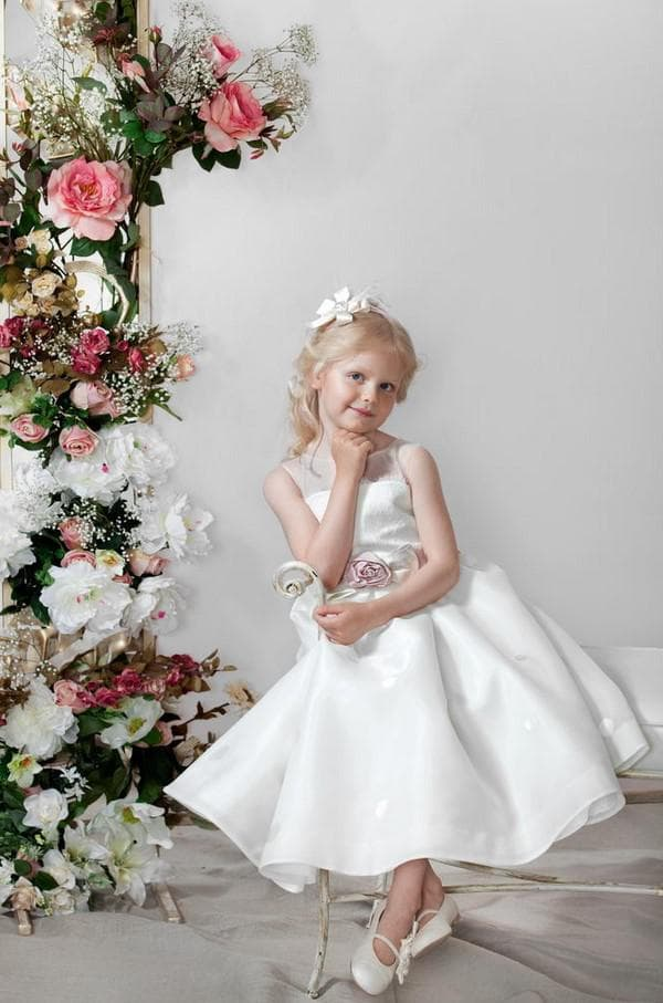 Белое платье для девочки 11 лет на свадьбу
