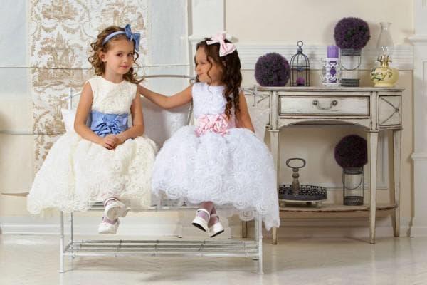Белое и айвори платье принцесса для девочки