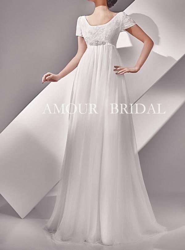 Нежное свадебное платье в пол