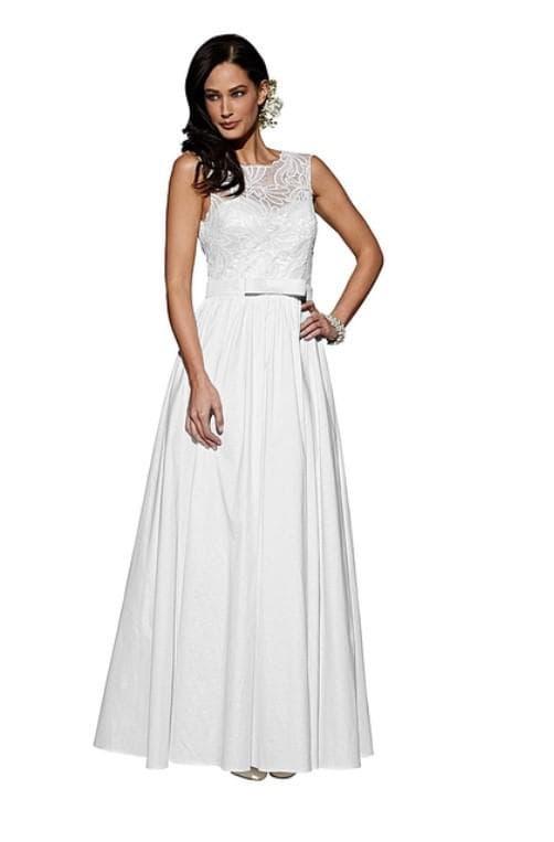 Белое длинное платье на выпускной