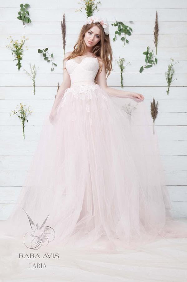 Розовое свадебное платье принцесса