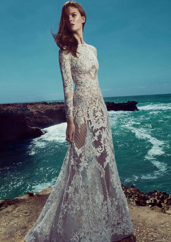 Прозрачное свадбеное платье Зухаир Мурад