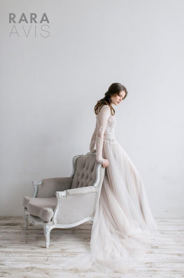 Длинное свадебное платье в стиле ампир