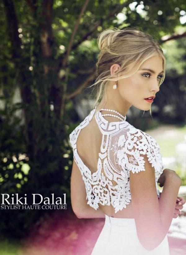 Платье невесты в стиле прованс с открытой спиной