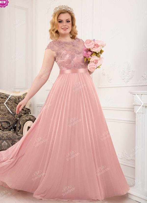 Вечернее платье принцесса для полной женщины