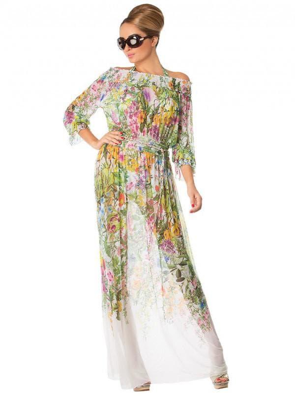 Цветное пляжное платье