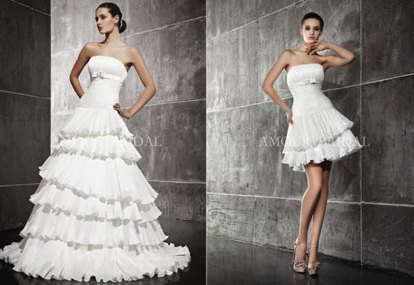 Свадебное платье траснформер с накладной пышной юбкой