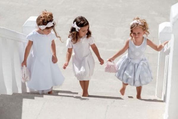 Белае платья для маленьких девочек на свадьбу