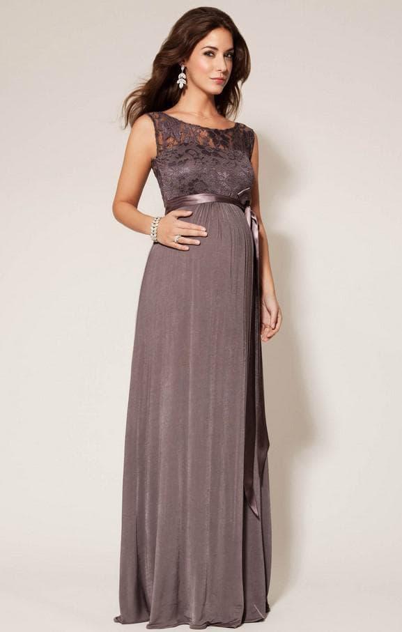 Длинное нарядное платье для беременной