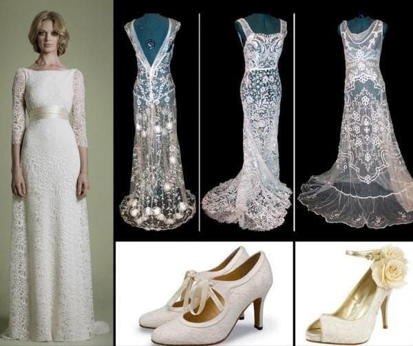 Свадебные туфли в стиле винтаж