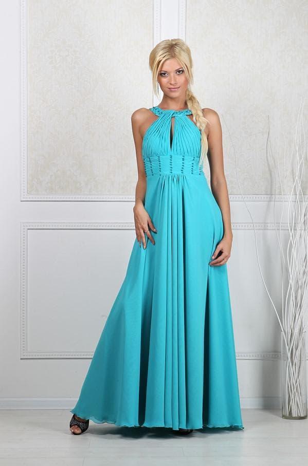 Вечернее платье в греческом стиле для беременных