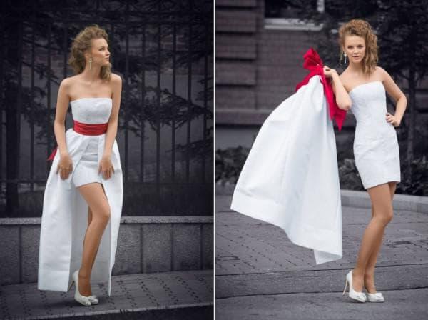 Корокое платье трансформер для невесты