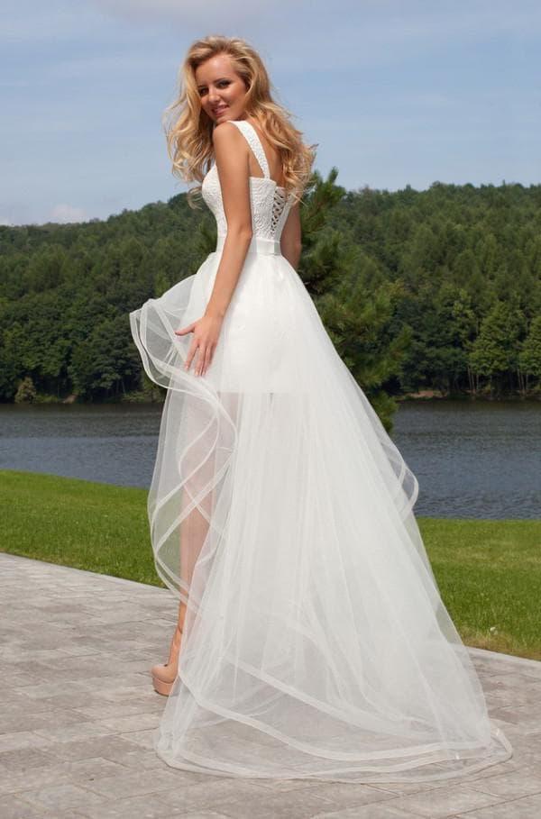 Свадебное платье трансформер с пышной юбкой