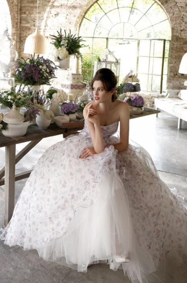 Свадебное платье принцесса в прованском стиле