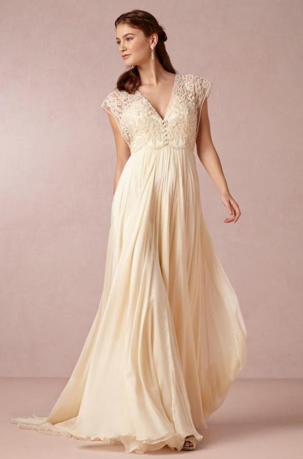 Свадебное платье в пол в стиле прованс