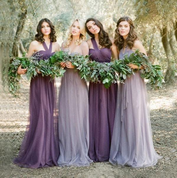 Лавандовые платья подружек невесты