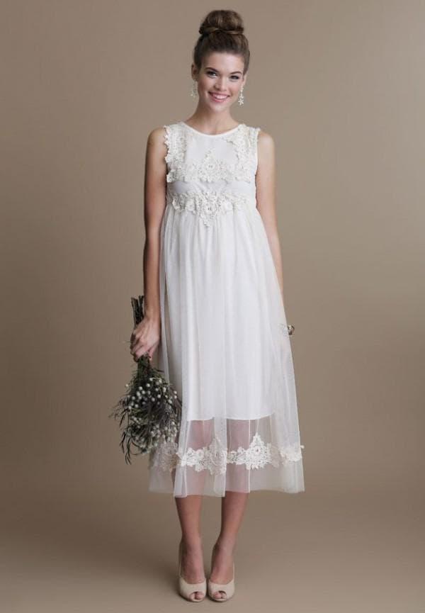 Свадебное платье миди в стиле прованс