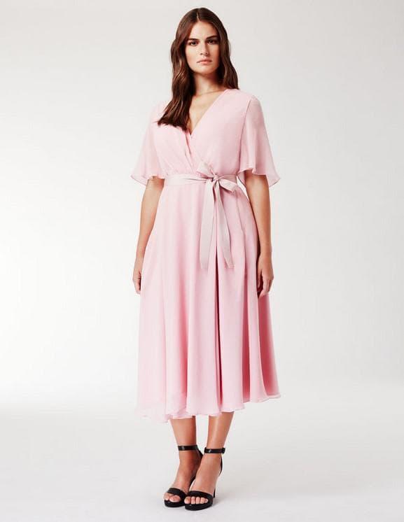 Шёлковое платье для полных